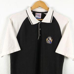 AFL Australian Football Magpies Colorblock Polo L